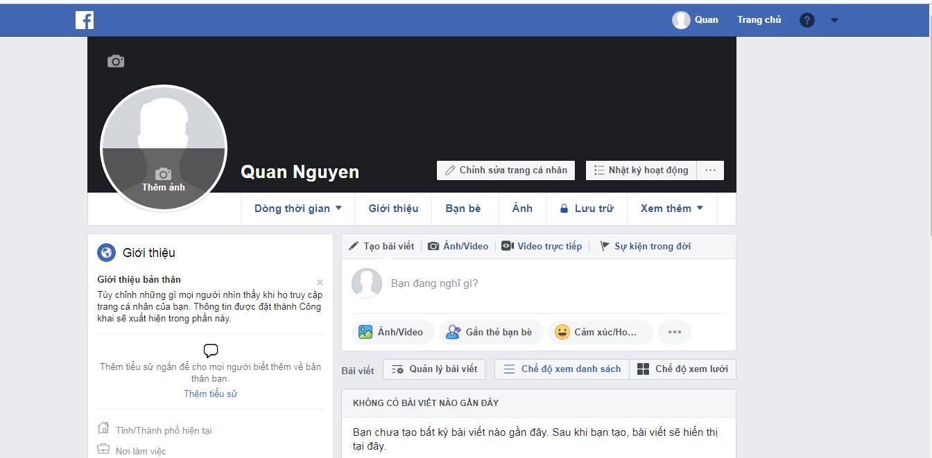đăng kí thành công tài khoản Facebook